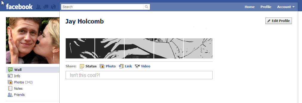 You can make your Facebook Profile look like this too! Just follow the directions on this page :)
